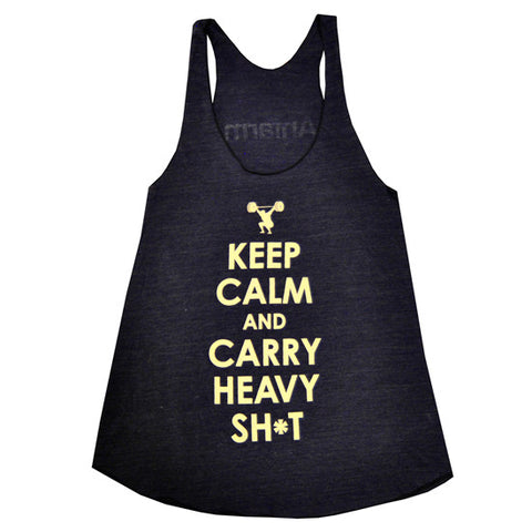 Keep Calm Women's CrossFit-style t-shirt ---Anfarm Gear
