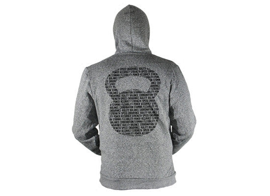 Kettlebell Commandments Hoodie (Peppered Grey)--G2OH