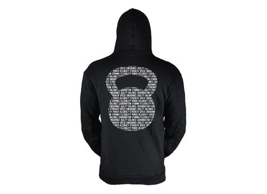 Kettlebell Commandments hoodie (black---back view) ---G2OH