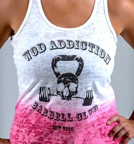 Ladies Barbell Club women's workout tank tops (pink) ---WOD Addiction