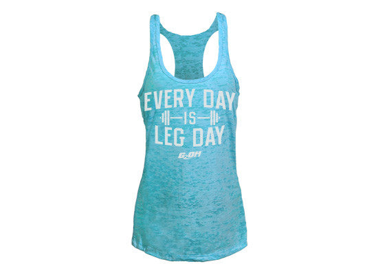 Leg Day Women's CrossFit-themed Burnout tank tops -- G2OH