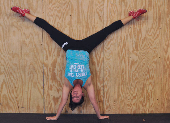 Leg Day women's burnout CrossFit-themed tanks (handstand) --- G2OH