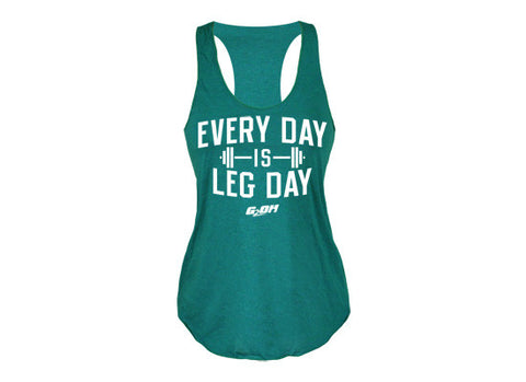 Every Day is Leg Day women's CrossFit-themed tank tops ---G2OH