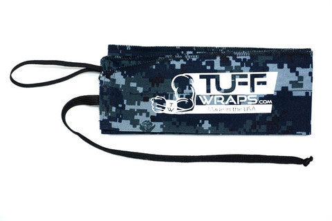 Navy Digital CrossFit-Style Wrist Wraps from Tuff Wraps
