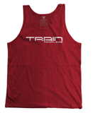 Train Fearless Men's CrossFit-style Tank Tops---Fearless Fitness Apparel  (Red)