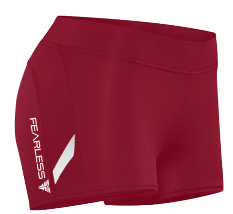 Fearless Crimson CrossFit-style Booty shorts from Fearless Fitness Appparel