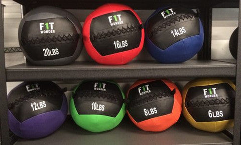 CrossFit Medicine Balls from OneFitWonder (On Rack)