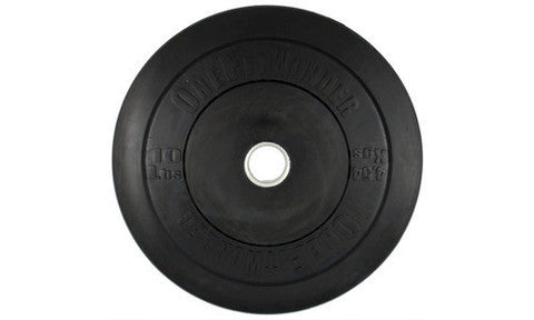 Black CrossFit Bumper Weight Plates from OneFitWonder