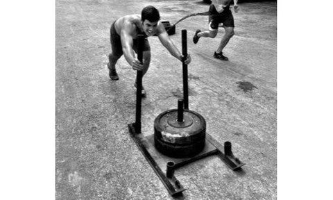OneFitWonder Commercial CrossFit Sled (pushing on sled)
