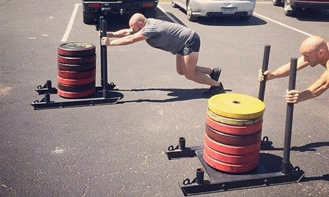 OneFitWonder Commercial CrossFit Chariot Sled (in action)