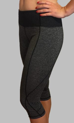 Onyx CrossFit-style Capri Pants from Born Primitive (Front)