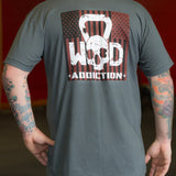 Patriot CrossFit-themed t-shirt --- WOD Addiction