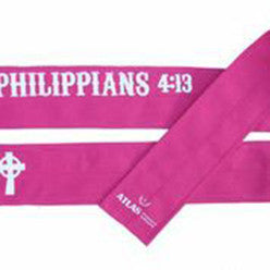 Philippians CrossFit-style Wrist Wraps --- Atlas Power Wraps (pink)