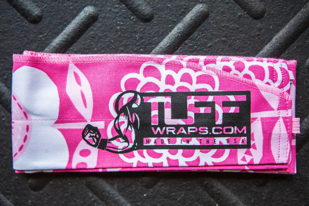 Pink Beauty CrossFit-style Wrist Wraps from TuffWraps