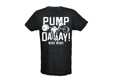 Pump Day Men's CrossFit-style t-shirts from G2OH (black)
