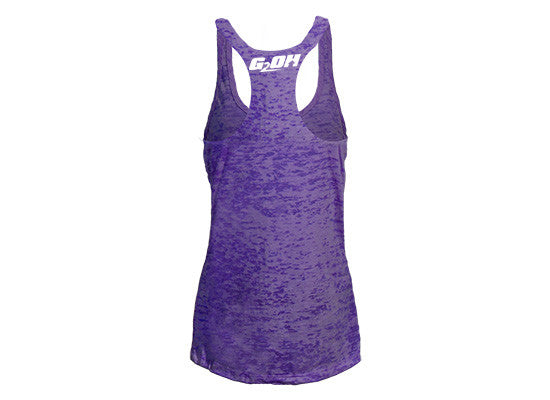 Pump Day Women's CrossFit-style Tank Tops --G2OH (purple -- back)
