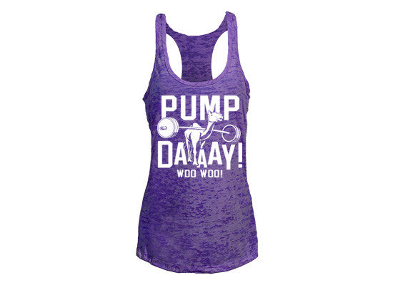 Pump Day Women's CrossFit-style tank tops from G2OH (purple)