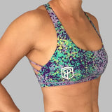 Purple Vitality CrossFit-style Sports Bras from Born Primitive (Side)