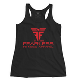 Fearless Women's CrossFit-style Tank Tops from Fearless Fitness Apparel (Black/Red)