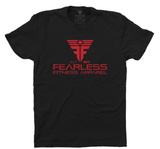 CrossFit-style T-shirts from Fearless Fitness Apparel (Black/Red)