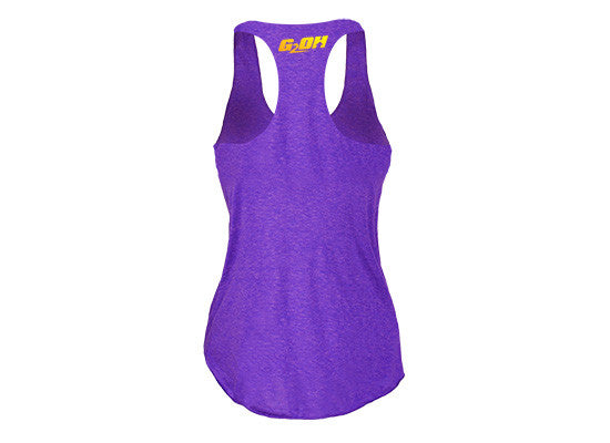 Rise and Grind Women's CrossFit-style Tank Tops---G2OH (purple---back)