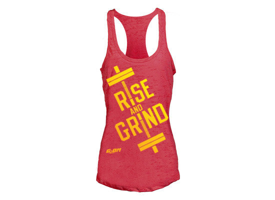 Rise and Grind Women's CrossFit-style Tank Tops ---G2OH (Red)