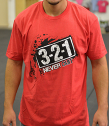 Never Quit Men's CrossFit-themed t-shirt --- 321 Apparel (red)