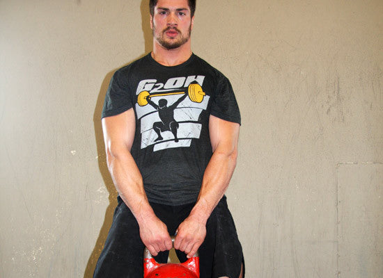 G2OH Snatch Men's CrossFit-style T-Shirts  (in use)