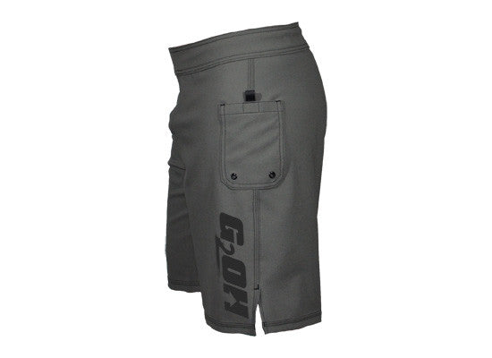 Men's CrossFit-style Shorts ---G2OH (grey --right -side view)