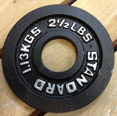 Barbell Metal Weight Plates --- Troy