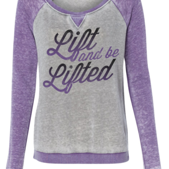 Lift and Be Lifted long sleeved workout from WOD Addiction