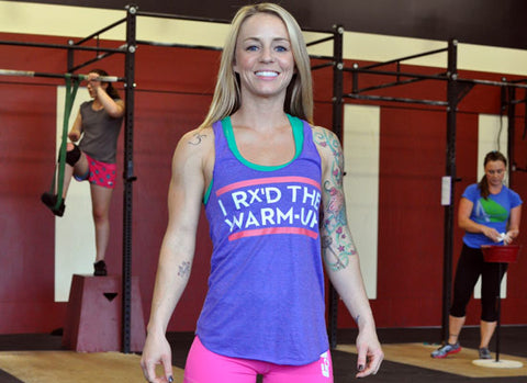 I Rx'd The Warmup Women's CrossFit-themed Tank Tops (purple) ----G2OH