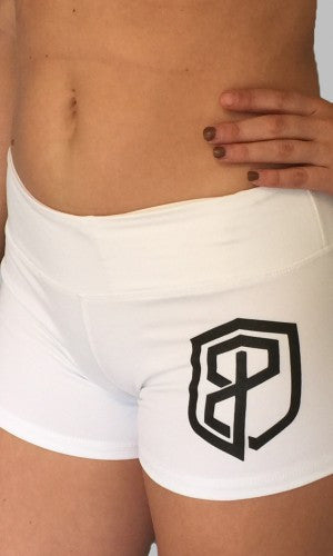 Renewed Vigor CrossFit-style Shorts from Born Primitive (White)