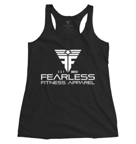 Fearless CrossFit-style Women's Tank Tops from Fearless Fitness Apparel (Black/White)