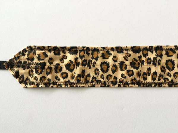Leopard (Brown) CrossFit-style wrist wraps ---Atlas Power Wraps