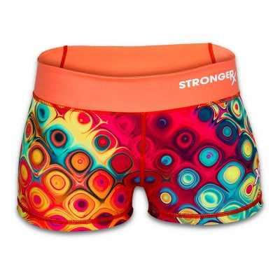 Disco Women's Compression Workout Booty Shorts from Stronger Rx