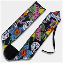 Dia De Los Muertos CrossFit-themed wrist wraps --- Beastette Apparel