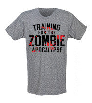 Train For the Zombie Apocalypse Mens CrossFit-style T-shirts from G2OH