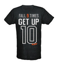 Fall 9 Times, Get Up 10 Men's CrossFit-style T-Shirt from G2OH (black)