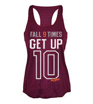 Fall 9 Times Get Up 10 women's CrossFit tank tops from G2OH