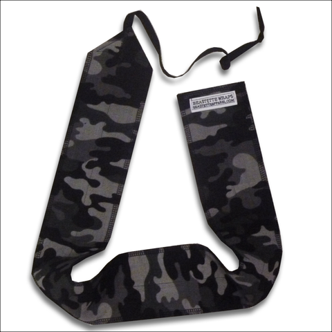 Beastette Apparel Grey Camo Workout Wrist Wraps