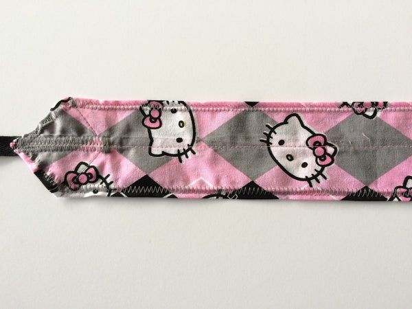 Hello Kitty CrossFit-style wrist wraps (pink & black) --- Atlas Power Wraps