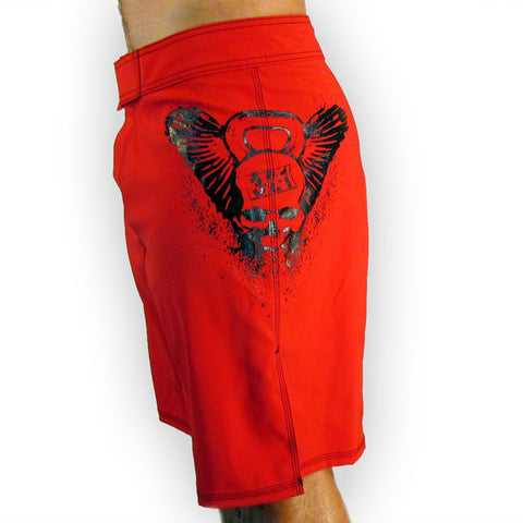 Kettlebell Skull men's CrossFit-style shorts  (Side)--- 321 Apparel