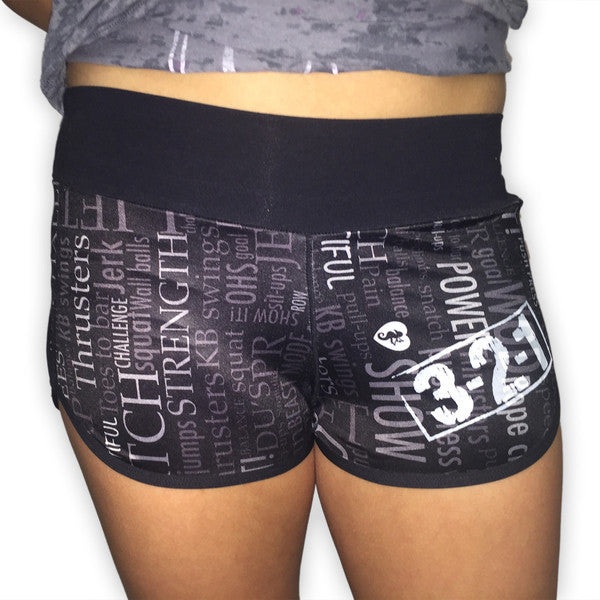 Print-Style Women's CrossFit-Themed Shorts from 321 Apparel