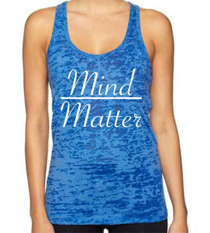 Mind Over Matter women's CrossFit-style tank tops from Spin Off Appare
