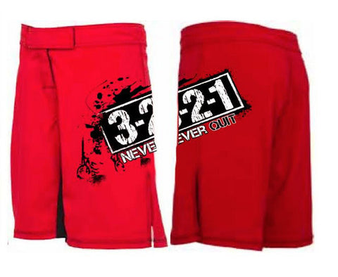 Never Quit men's WOD shorts---321 Apparel