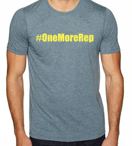 One More Rep men's CrossFit-style t-shirts from Spin Off Apparel