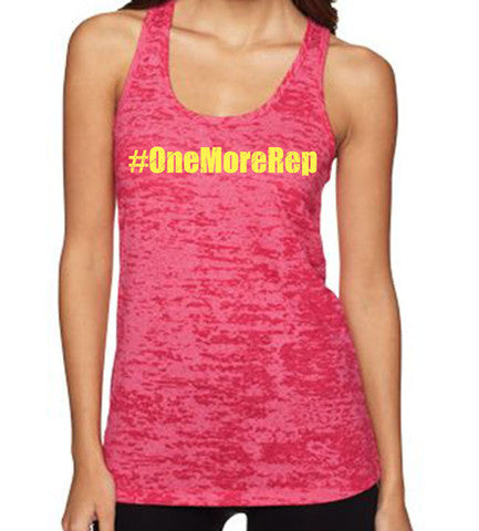 One More Rep women's CrossFit-style tank tops from Spin Off Apparel