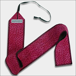 Beastette Apparel Raspberry Cheetah CrossFit-style wrist wraps