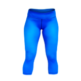 Seamless CrossFit-style Workout Capri Pants ----Stronger Rx (Blue)